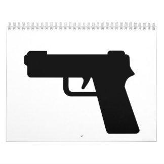 Arma de mano calendarios de pared