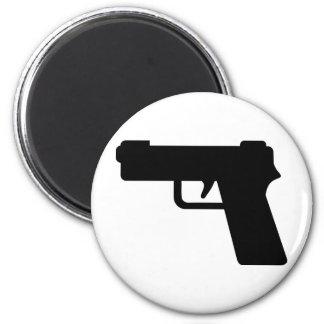 Arma de mano imán redondo 5 cm