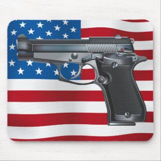 Arma de mano los E.E.U.U. Alfombrillas De Ratones