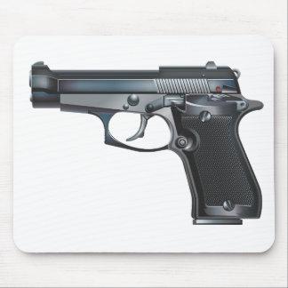 Arma de mano tapetes de raton