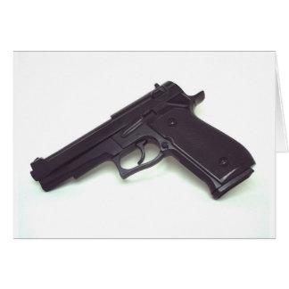 Arma de mano tarjeta de felicitación