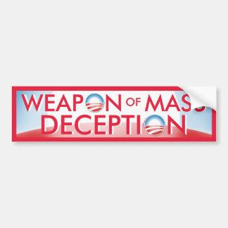 Arma de Obama del engaño total Pegatina Para Auto