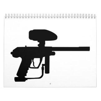 Arma de Paintball Calendarios De Pared