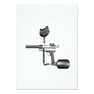 """Arma de Paintball Invitación 5"""" X 7"""""""