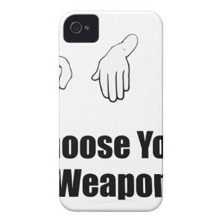 Arma de papel de las tijeras de la roca iPhone 4 carcasas