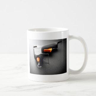 Arma de pegamento taza de café