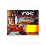 arma de rayo atómico del hombre del espacio tarjeta postal
