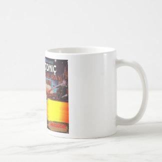 arma de rayo atómico del hombre del espacio taza de café