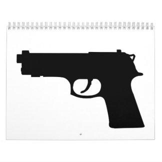 Arma del arma calendario de pared