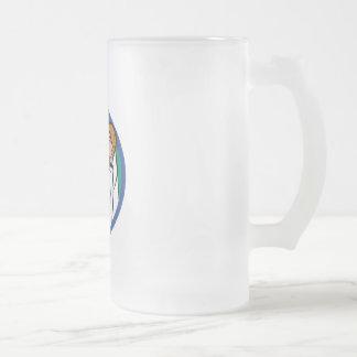 Arma del bloque taza de cristal