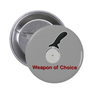 Arma del botón bien escogido pin redondo de 2 pulgadas
