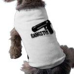 Arma del gángster camisas de perritos