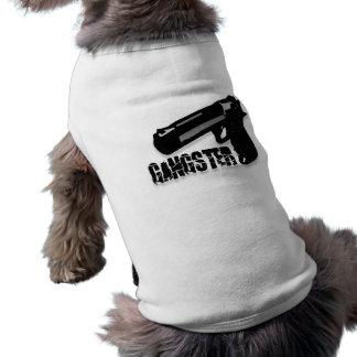Arma del gángster playera sin mangas para perro