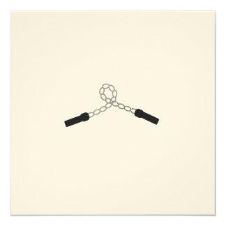 """arma del ninja invitación 5.25"""" x 5.25"""""""