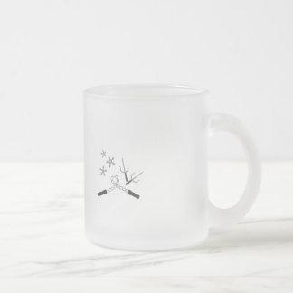arma del ninja taza de cristal