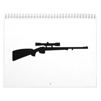 Arma del rifle calendarios