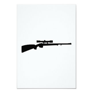 """Arma del rifle invitación 3.5"""" x 5"""""""