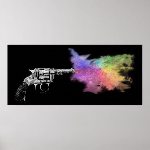 arma del smokin del amor: arco iris: póster