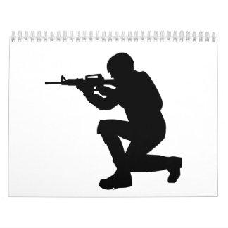Arma del soldado calendarios de pared