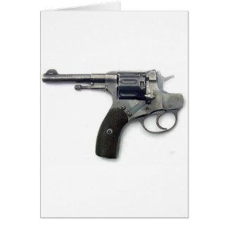 Arma del suicidio tarjeta de felicitación