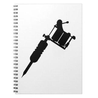 arma del tatuaje libros de apuntes con espiral