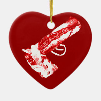 Arma del tocino ornamento para arbol de navidad