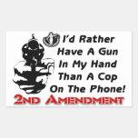 ¡Arma en mi mano! Pegatina Rectangular