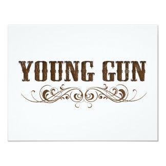 arma joven invitación 10,8 x 13,9 cm