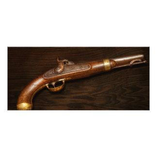 Arma - modelo 1842 de la pistola de los E.E.U.U. Diseño De Tarjeta Publicitaria