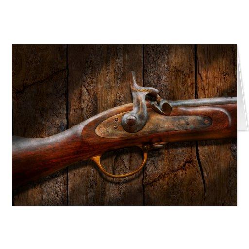 Arma - mosquete - arsenal de Londres Tarjeta De Felicitación