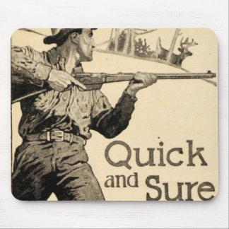 Arma Mousepad seguro rápido del anuncio del rifle