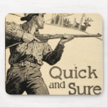 Arma Mousepad seguro rápido del anuncio del rifle  Alfombrillas De Raton