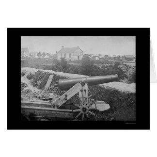 Arma naval confederado en Yorktown, VA 1862 Tarjeta De Felicitación