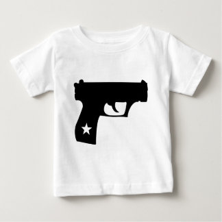 Arma negro de la estrella de la pistola del poli polera