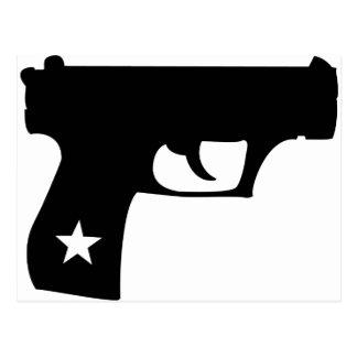 Arma negro de la estrella de la pistola del poli postal