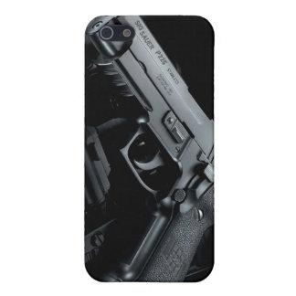 arma negro iPhone 5 carcasa