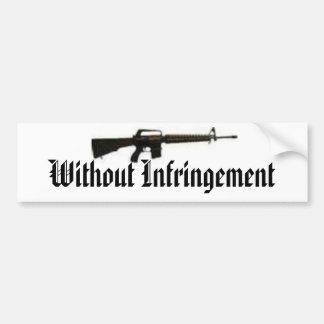Arma negro, sin la infracción etiqueta de parachoque