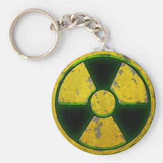 Arma nuclear amarilla llavero redondo tipo pin