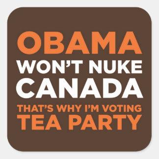 Arma nuclear Canadá Pegatina Cuadrada