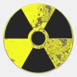 Arma nuclear etiquetas redondas