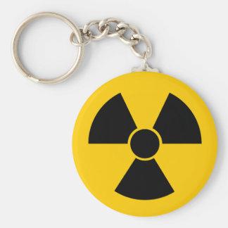 Arma nuclear negra llavero redondo tipo pin