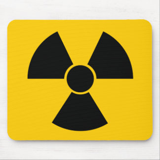 Arma nuclear negra alfombrillas de ratón