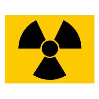 Arma nuclear negra tarjetas postales