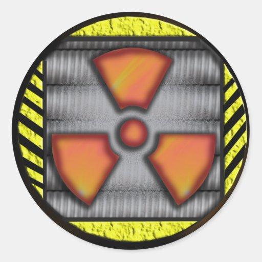 arma nuclear pegatina redonda