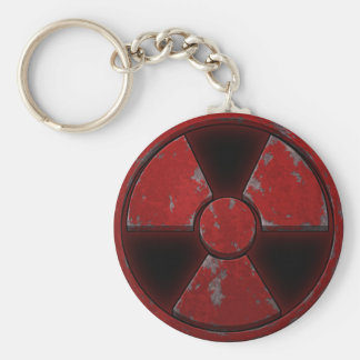 Arma nuclear roja llavero redondo tipo pin