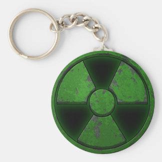 Arma nuclear verde llavero redondo tipo pin