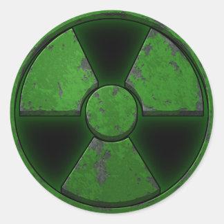 Arma nuclear verde etiqueta redonda
