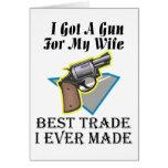 Arma para la esposa tarjeton