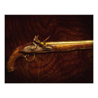 """Arma - pistola del fusil de chispa folleto 8.5"""" x 11"""""""