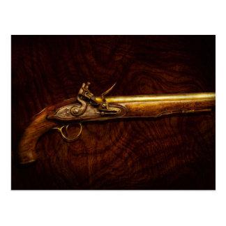 Arma - pistola del fusil de chispa postal